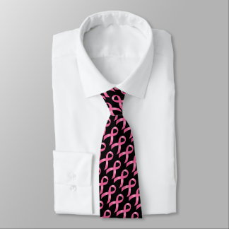 Breast Cancer Pink Ribbon Tie