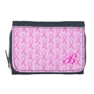 Breast Cancer Pink Ribbon Wallets