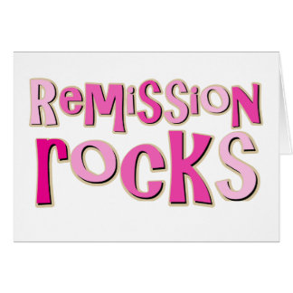 Breast Cancer Remission Rocks Card