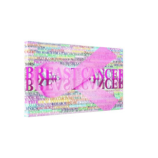 Breast Cancer Ribbon Art Canvas Print