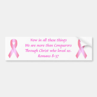 Breast Cancer Ribbon, Breast Cancer Ribbon, Now... Bumper Sticker