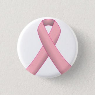 Breast Cancer Ribbon Button