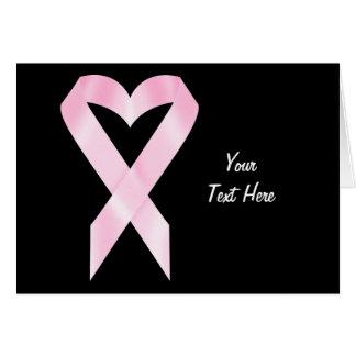 Breast Cancer Ribbon (customizable) Card