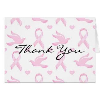 Breast Cancer Ribbon Dove Heart Card