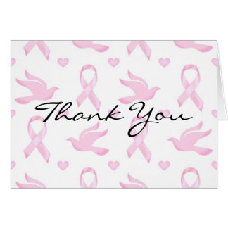 Breast Cancer Ribbon Dove Heart Note Card