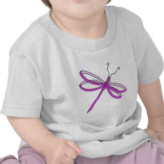 Breast Cancer Ribbon Dragonfly 1 Tee Shirt