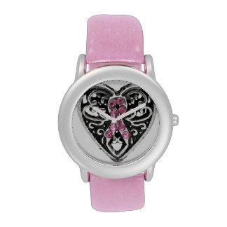 Breast Cancer Ribbon Hope Watch