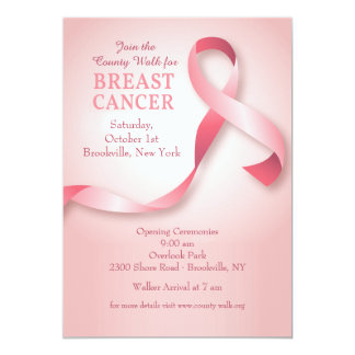 Breast Cancer Ribbon Invitation
