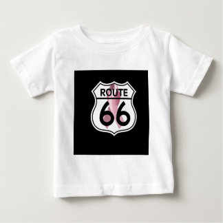Breast Cancer Ribbon Route 66 Shield Shirt