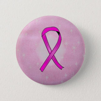 breast cancer ribbon sparkles 2 inch round button