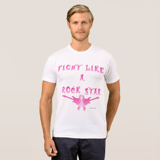 Breast Cancer Rock Star Men's Poly-Cotton T-Shirt