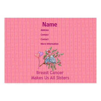 Breast Cancer Sisters Pack Of Chubby Business Cards