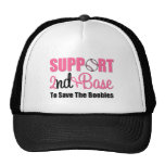 Breast Cancer Support 2nd Base Trucker Hats