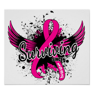 Breast Cancer Surviving Since 1982 Poster