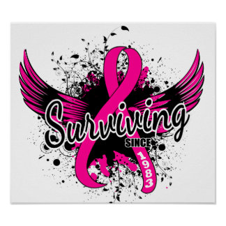 Breast Cancer Surviving Since 1983 Posters