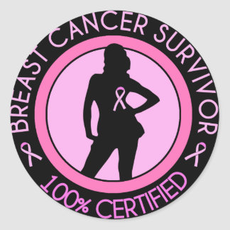 Breast Cancer Survivor Badge Classic Round Sticker
