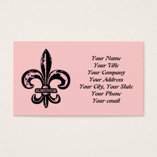 Breast Cancer Survivor Business Card