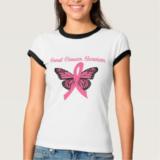 Breast Cancer Survivor Butterfly Tees