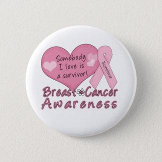 Breast Cancer Survivor Button