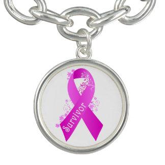 Breast Cancer Survivor Charm Bracelet