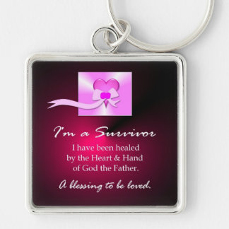 Breast Cancer Survivor Keychain