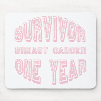 Breast Cancer Survivor One Year Mouse Pad