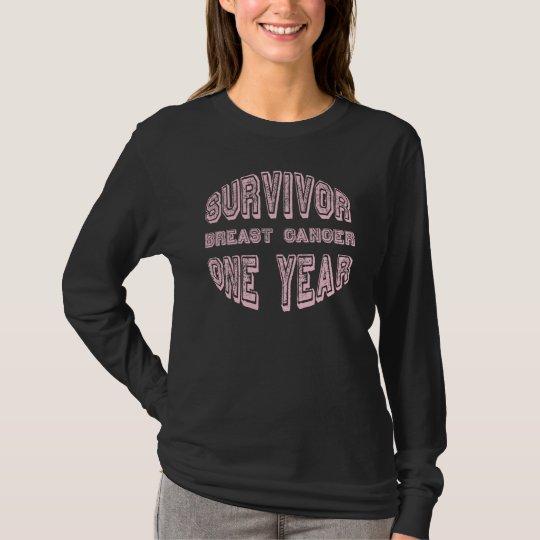 Breast Cancer Survivor One Year T-Shirt