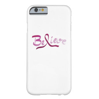 Breast Cancer Survivor Pink Ribbon Believe Gifts Barely There iPhone 6 Case