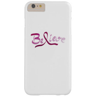 Breast Cancer Survivor Pink Ribbon Believe Gifts Barely There iPhone 6 Plus Case