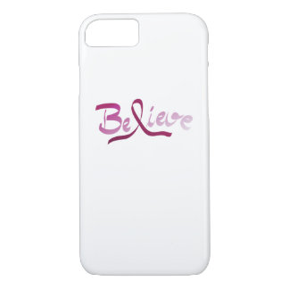 Breast Cancer Survivor Pink Ribbon Believe Gifts iPhone 8/7 Case
