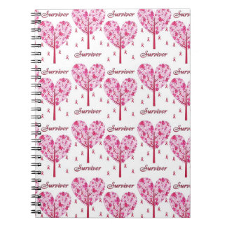 Breast Cancer Survivor Pink Ribbon Tree Gifts Notebooks
