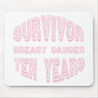 Breast Cancer Survivor Ten Years Mouse Pad