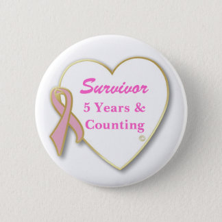 Breast Cancer Survivor-- Years & Counting 2 Inch Round Button