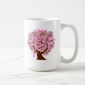 Breast Cancer  Tree of Ribbons Mugs