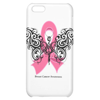 Breast Cancer Tribal Butterfly Ribbon iPhone 5C Cover