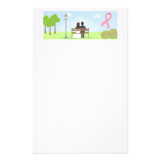 Breast Cancer Wedding Couple Stationery