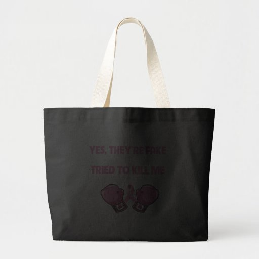 Breast Cancer Yes Theyre Fake I Fought Back Bag