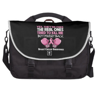 Breast Cancer Yes Theyre Fake I Fought Back Laptop Bag