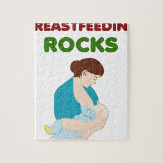 breast feeding mom rocks jigsaw puzzle