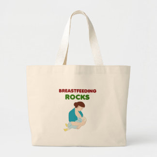 breast feeding mom rocks large tote bag