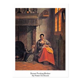 Breast-Feeding Mother By Pieter De Hooch Postcard