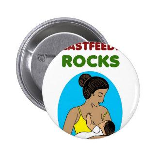 breast feeding Mother rocks 2 Inch Round Button