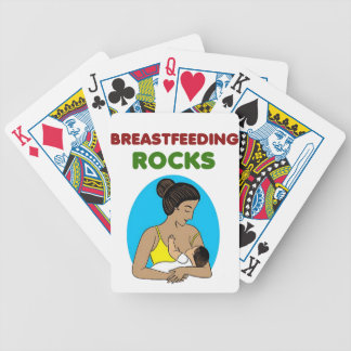 breast feeding Mother rocks Bicycle Playing Cards
