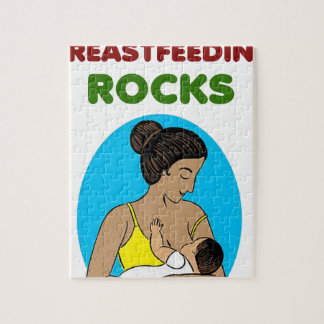 breast feeding Mother rocks Jigsaw Puzzle