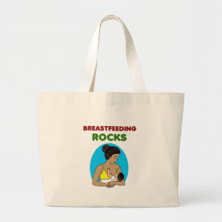 breast feeding Mother rocks Large Tote Bag