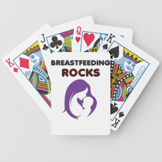 breast feeding rocks bicycle playing cards