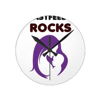 breast feeding rocks clock