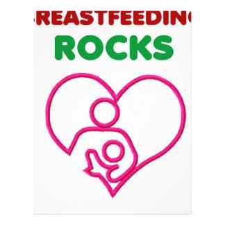 breast feeding rocks, mom with baby letterhead