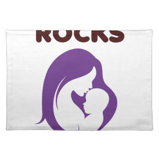 breast feeding rocks placemat