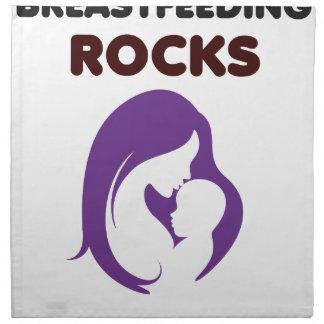 breast feeding rocks printed napkins